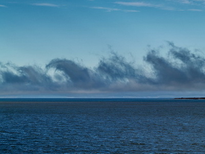 Clouds off the coast of Longyearbyen