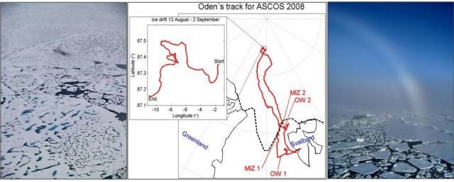Cruise track of ASCOS